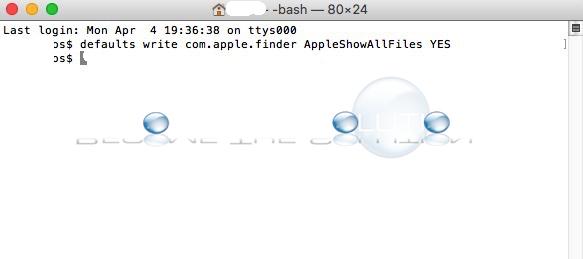 Show Hidden Files Mac OS X