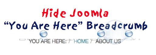 Joomla Hide You Are Here Breadcrumb