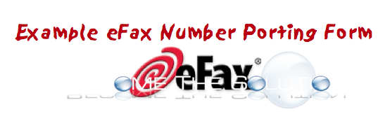 eFax Porting Form Process