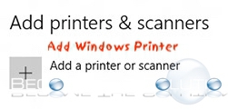 Add Printer Windows