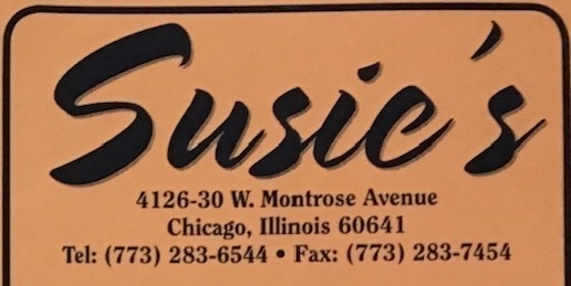 Susie's Drive Thru Carry Out Menu Chicago