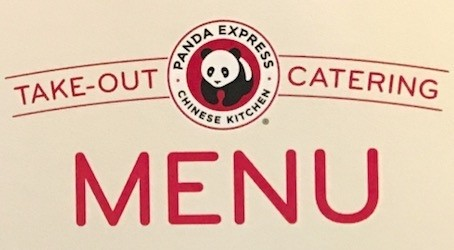 Panda Express Carry Out Menu Chicago (Scanned Menu With Prices)