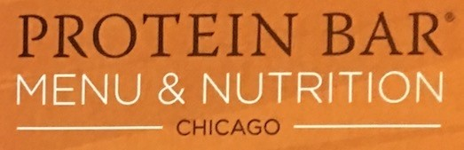 Protein Bar Chicago Carry Out Menu (Scanned Menu With Prices)