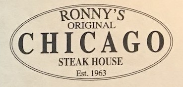 Ronny's Original Chicago Steak House Carry Out Menu (Scanned Menu With Prices)