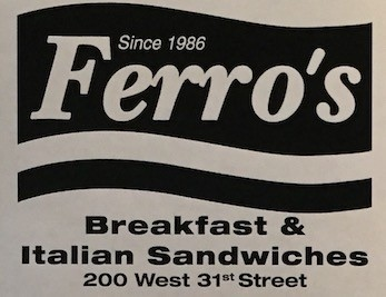 Ferro's Carry Out Menu Chicago (Scanned Menu With Prices)