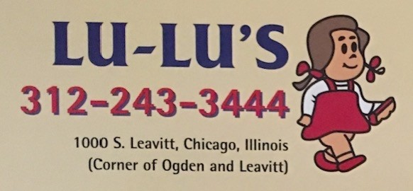 LuLu's Hot Dogs Carry Out Menu Chicago (Scanned Menu With Prices)