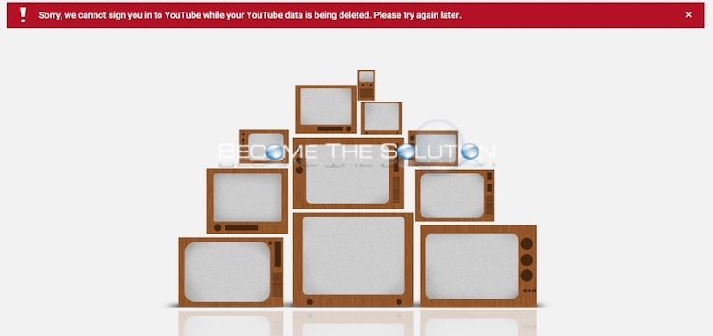 Fix: Sorry, we cannot sign you in to YouTube while your data is being deleted
