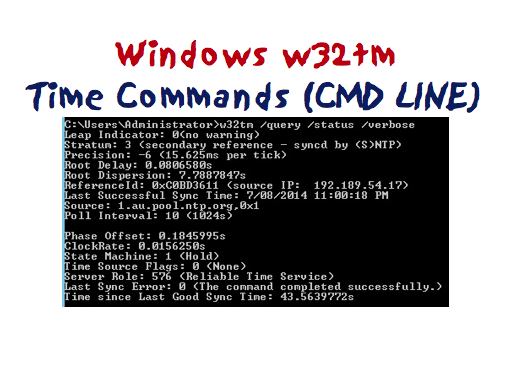 Windows32 w32tm Time Command Line