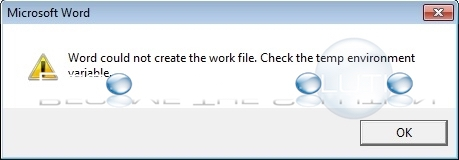 Fix: Word Could Not Create the Work File