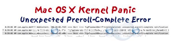 Fix: Unexpected preroll-complete notification Mac X Freeze Reboot 10.11