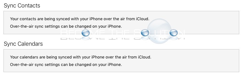 Fix: Your Contacts Are Being Synced with Your iPhone over the Air from iCloud