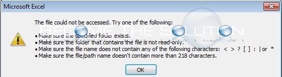 Fix: Excel – The File Could not be Accessed  Try One of the