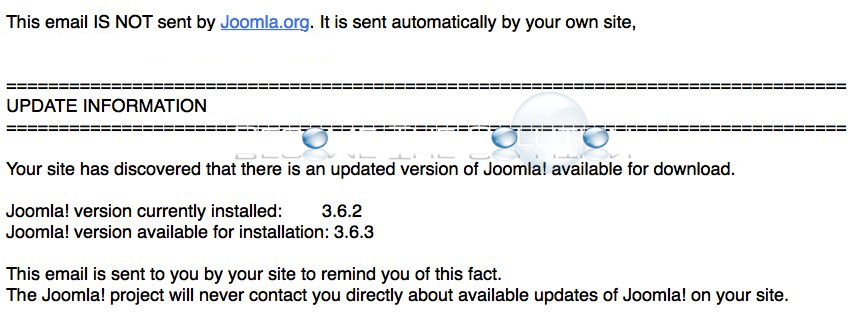 Joomla Disable Update Check Notification