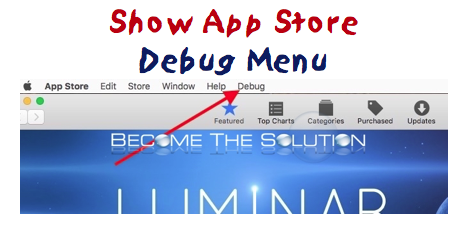 How To: App Store Show Debug Menu