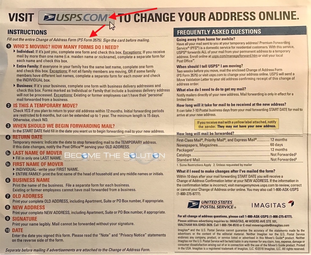 How To USPS Change Mailing Address Forward – Official Change of Address Form