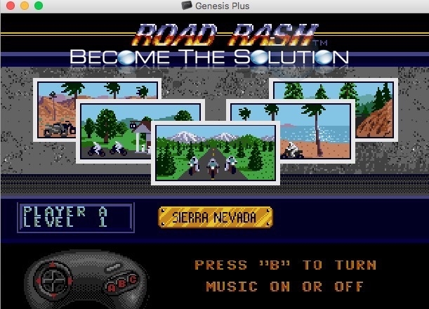 Mac sega genesis game road rash