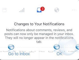 Facebook Pages Inbox Message Changes to Notifications