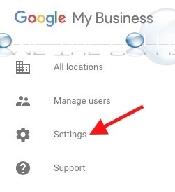 Google my business settings