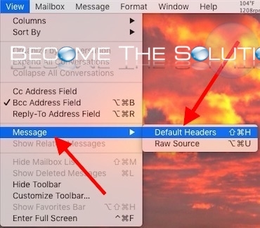 Mac show email headers