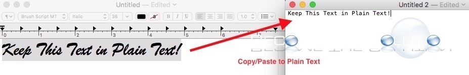 How To: Mac Keep Plain Text Format After Copy Pasting