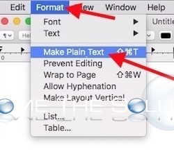 Mac textedit make plain text