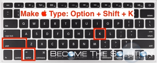 How to Type Apple Logo 