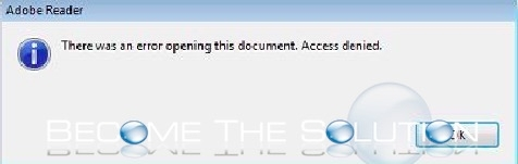 Fix: There Was an Error Opening this Document. Access denied