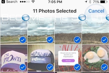 Select Multiple Photos from Camera iPhone