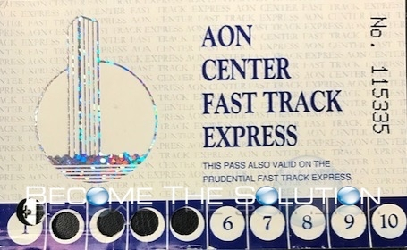 Aon fast track express bus old paper ticket