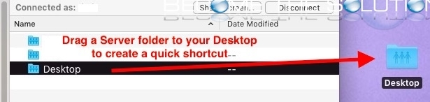 Mac drag server folder alias shortcut