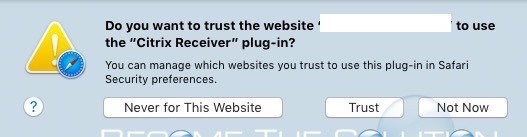 Do You Want to Trust the Website – Safari
