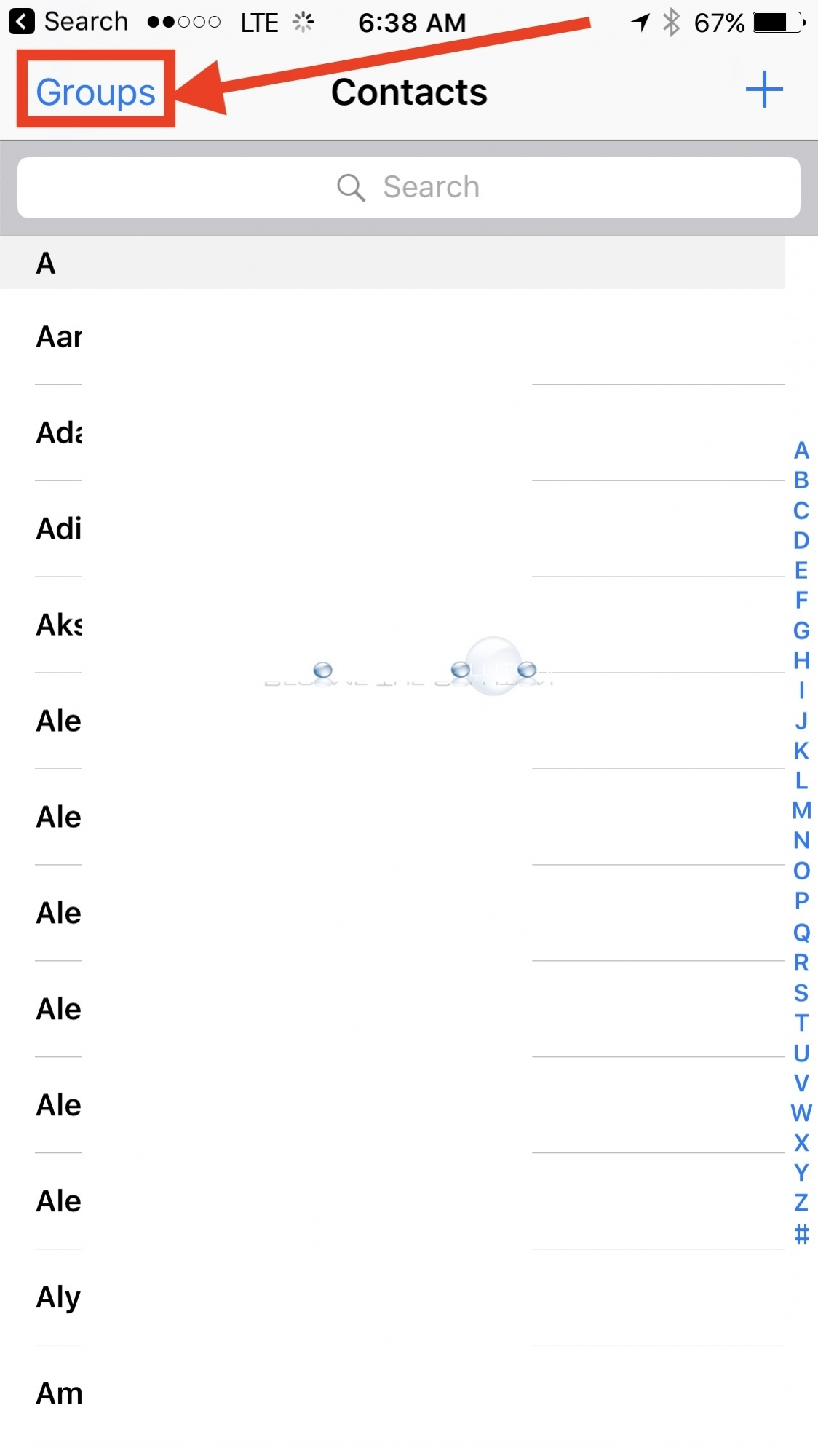 iPhone contact groups
