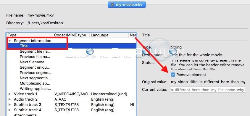 MOV MetaEdit features: