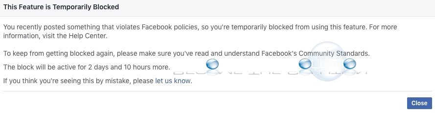 Fix: This Feature is Temporarily Blocked – Facebook
