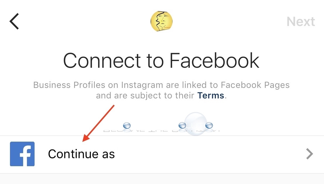 Connect instagram account to Facebook