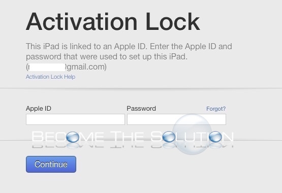 Activation Lock This iPad is Linked to an Apple ID