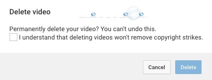 I Understand that Deleting Videos Won't Remove Copyright Strikes – YouTube