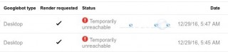 Google Webmaster Tools Temporarily Unreachable