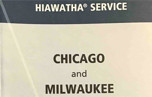 The Amtrak Hiawatha train takes travelers to the Milwaukee General Mitchell International Airport station, with a free shuttle bus connection to the airport.
