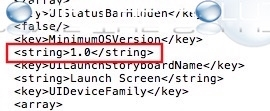 Ios app minimumosversion string