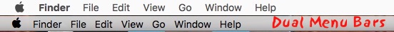 Mac Multiple Menu Bars