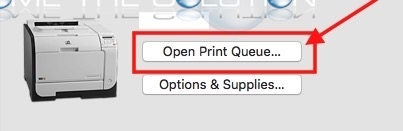 Mac x open print queue