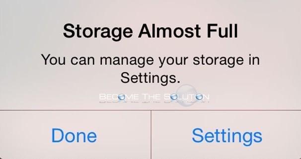Fix: Storage Almost Full iPhone iPad
