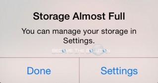 Fix: Storage Almost Full iPhone iPad