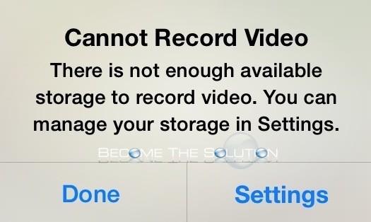 Fix: Cannot Record Video iPhone iPad