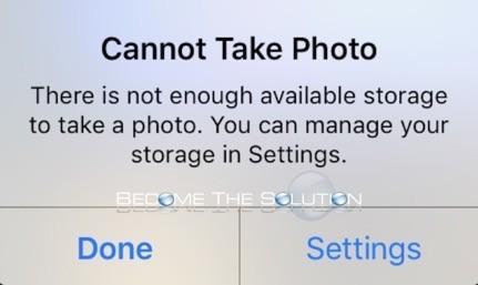 Fix: Cannot Take Photo iPhone iPad