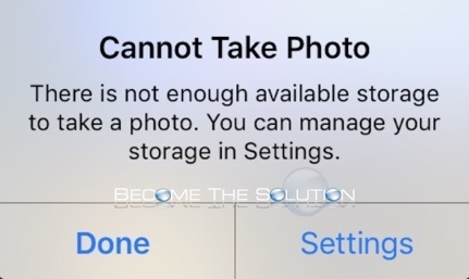 Fix: Cannot Take Photo iPhone iPad