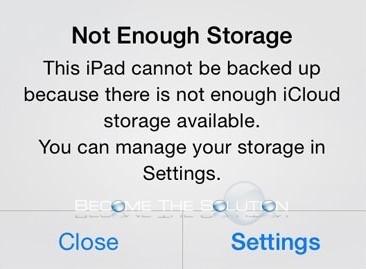 Fix: Not Enough Storage iPad