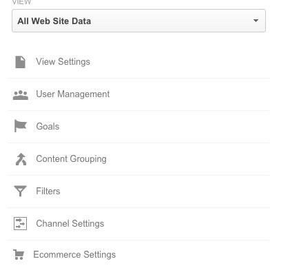 Google Analytics Filters Page
