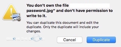 Fix: You Don't Own the File and Don't Have Permissions to Write It – Preview Mac